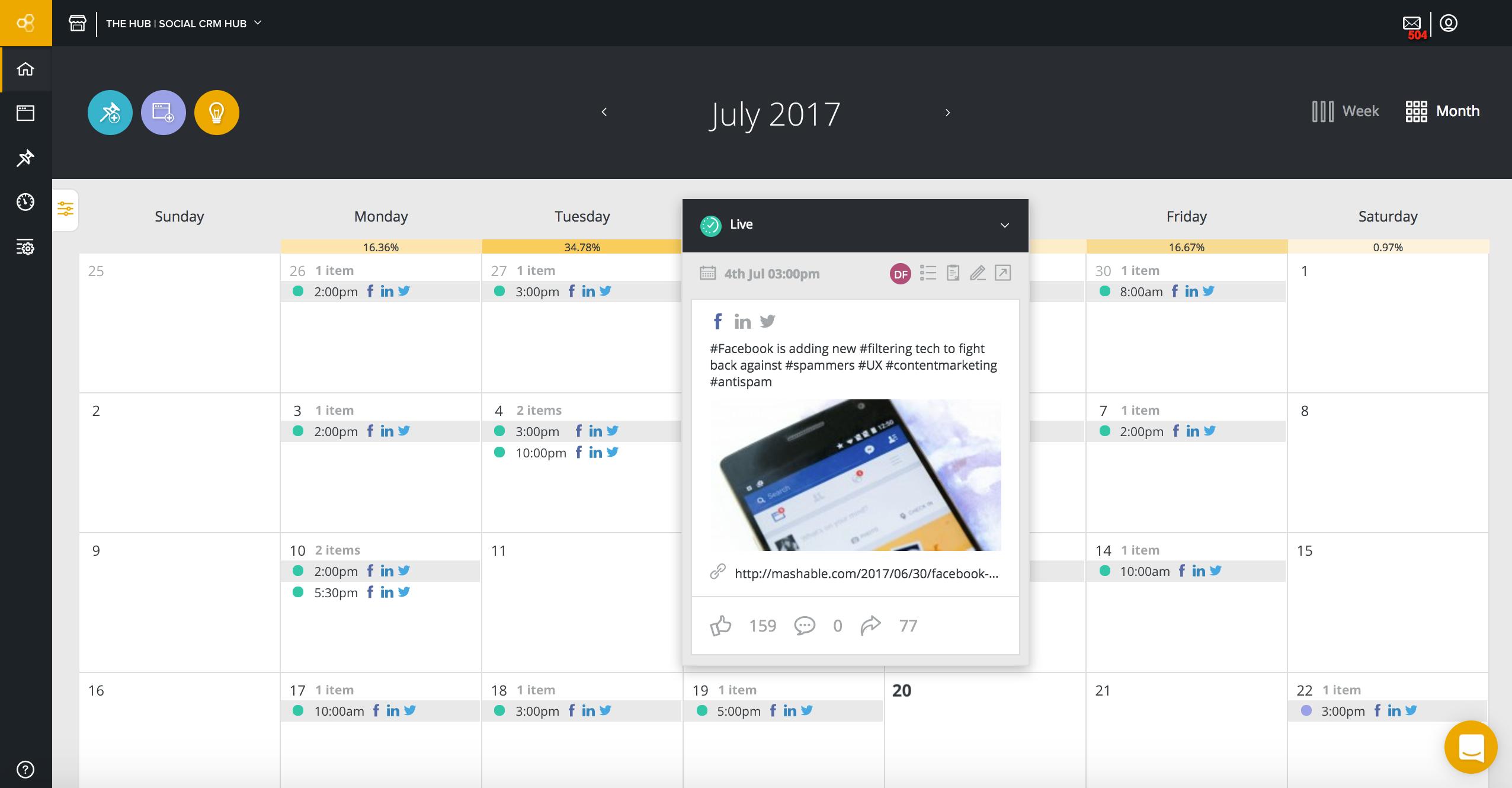Planning & Collaboration Calendar